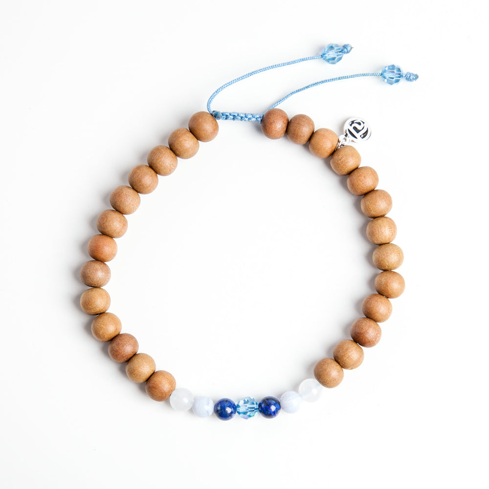 Ocean Mala Anklet - Tiny Devotions Gemstone 108 Mala Beads Intentional Jewelry