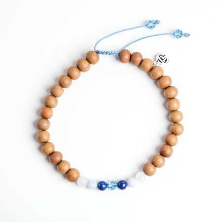 Ocean Mala Anklet - Mala Beads Meditation Accessories and Yoga Jewelryby Tiny Devotions