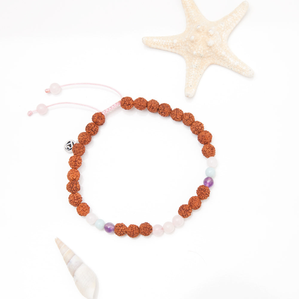 Peace Mala Anklet - Tiny Devotions Gemstone 108 Mala Beads Intentional Jewelry