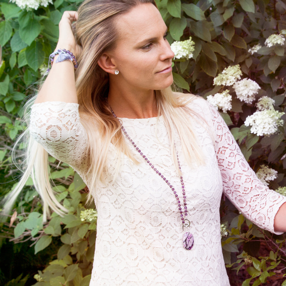 Amethyst Limitless Mala - Mala Beads Meditation Accessories and Yoga Jewelry by Tiny Devotions