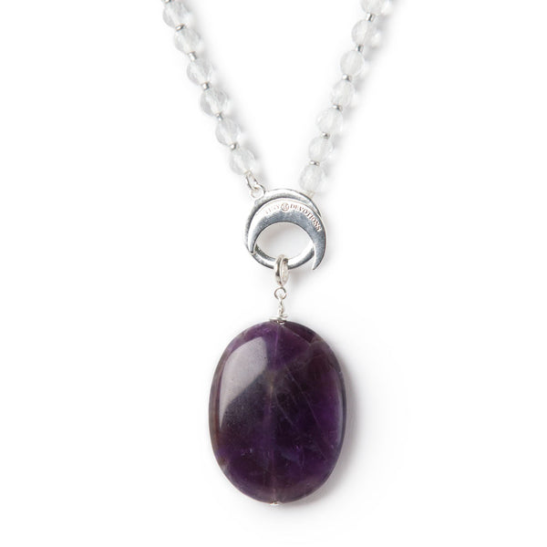 Amethyst Spirituality Amplifier - Silver