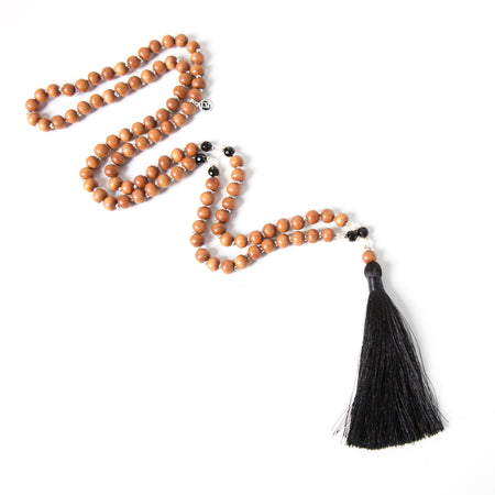 Black Onyx Focus Mala - Tiny Devotions Gemstone 108 Mala Beads Intentional Jewelry