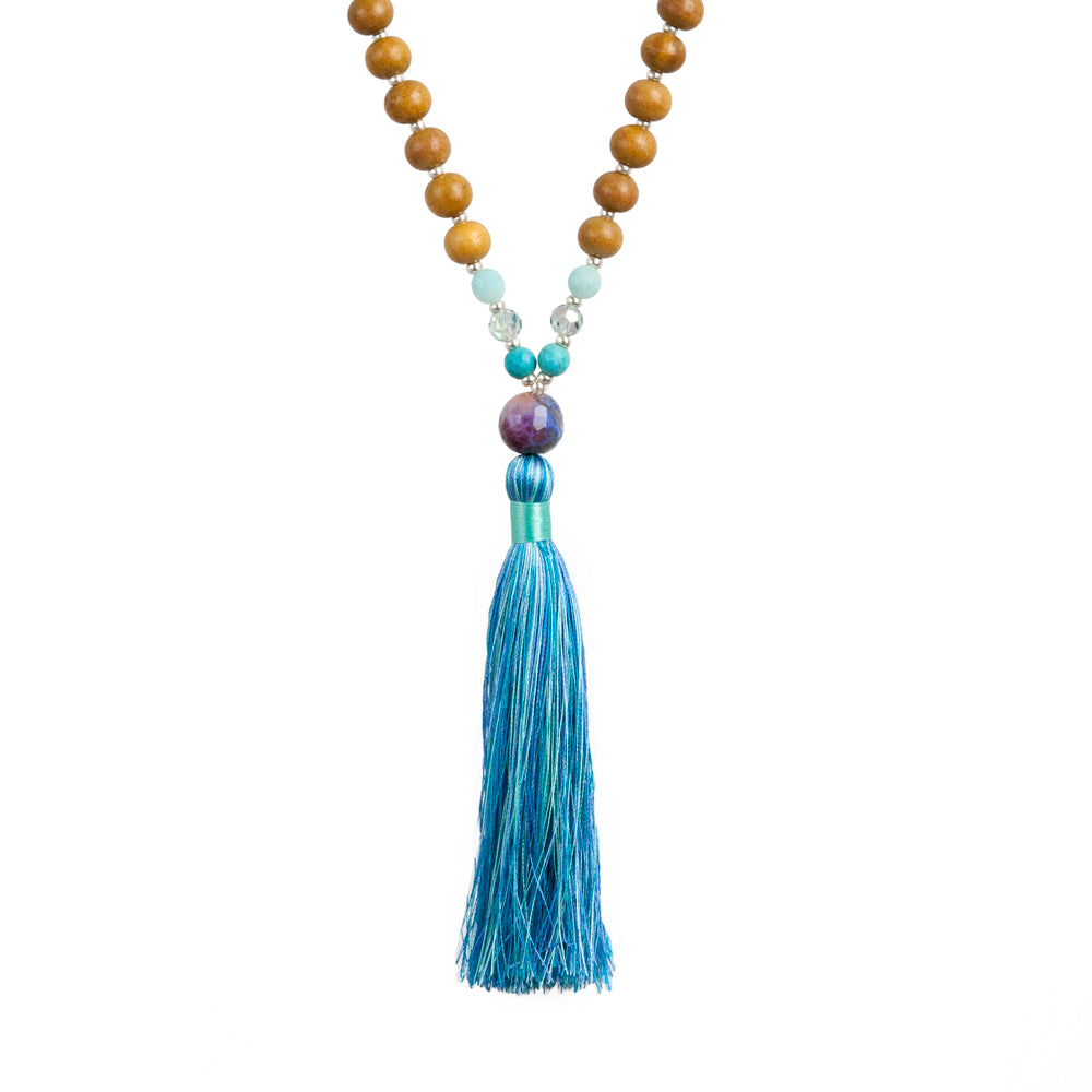 Enlightened Mermaid  Mala - Tiny Devotions Gemstone 108 Mala Beads Intentional Jewelry