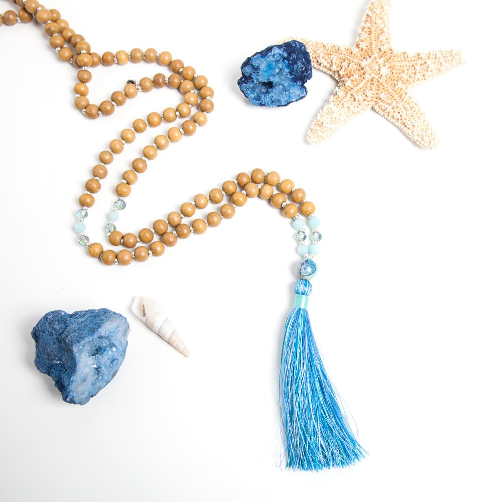 Enlightened Mermaid  Mala - Mala Beads Meditation Accessories and Yoga Jewelry by Tiny Devotions