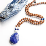 Lapis Mala of Intuition - Tiny Devotions Gemstone 108 Mala Beads Intentional Jewelry