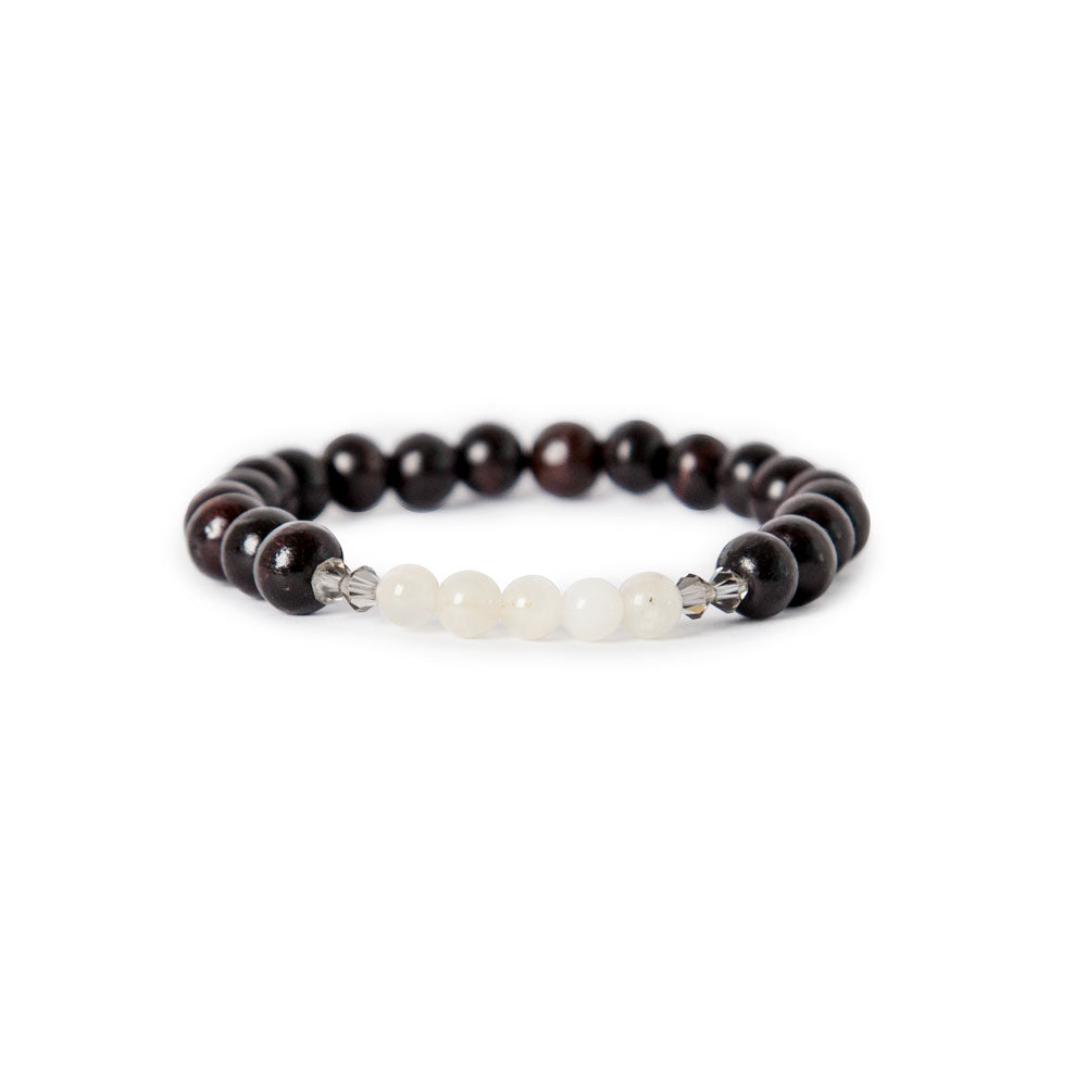Moonstone Mala Bracelet by Tiny Devotions