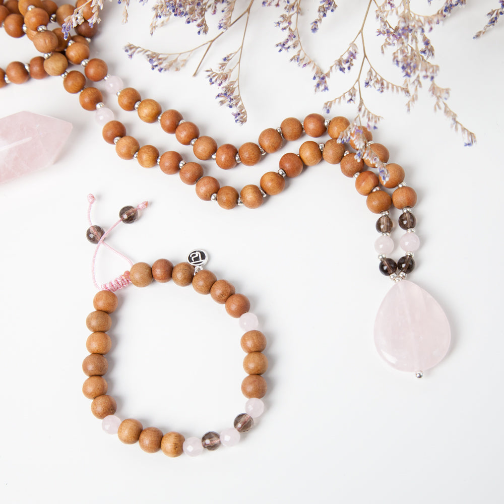 Mama Mala Bracelet - Tiny Devotions Gemstone 108 Mala Beads Intentional Jewelry