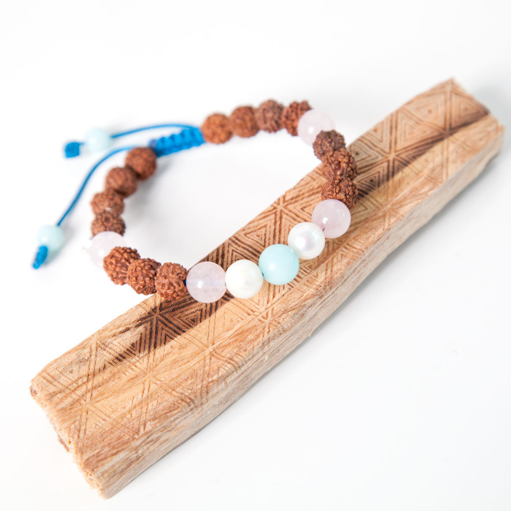 Sisterhood Mala Bracelet - Tiny Devotions Gemstone 108 Mala Beads Intentional Jewelry