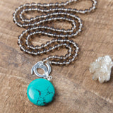 Turquoise Howlite Communication Amplifier - Mala Beads Meditation Accessories and Yoga Jewelryby Tiny Devotions