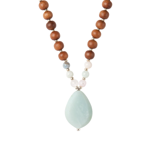 Rare Stone Aquamarine Mala by Tiny Devotions
