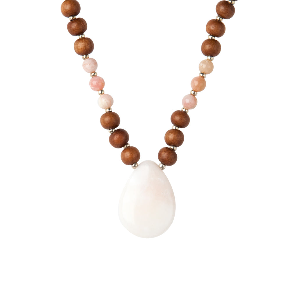 Rare Stone Pink Opal Mala - Mala Beads Meditation Accessories and Yoga Jewelry by Tiny Devotions