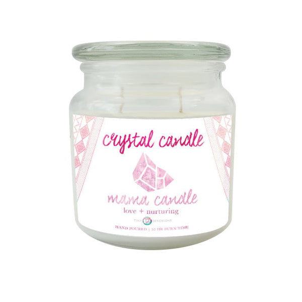 Mama Crystal Candle by Tiny Devotions