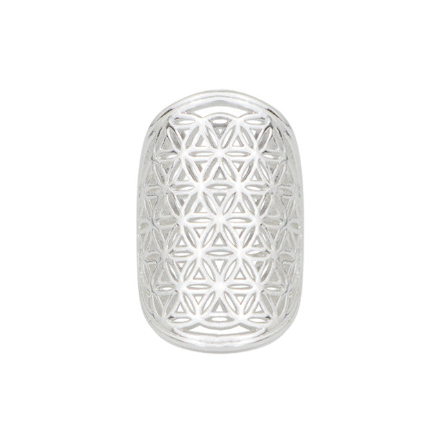 Flower of Life Ring - Silver - Mala Beads Meditation Accessories and Yoga Jewelry by Tiny Devotions
