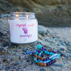 Amethyst Crystal Candle by Tiny Devotions