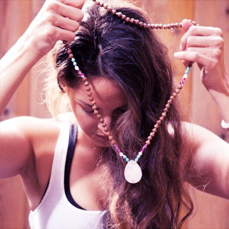 Heart Chakra Mala - Mala Beads Meditation Accessories and Yoga Jewelryby Tiny Devotions