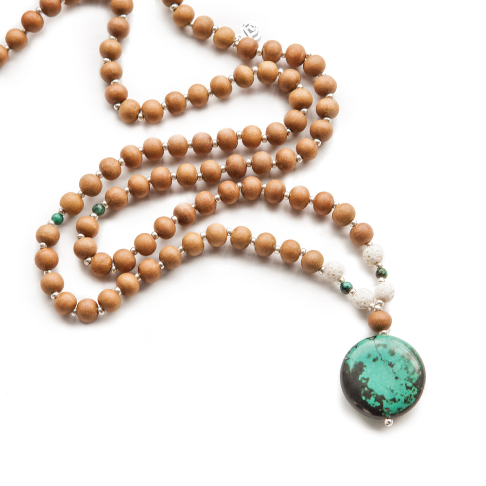 Courage Mala - Tiny Devotions Gemstone 108 Mala Beads Intentional Jewelry