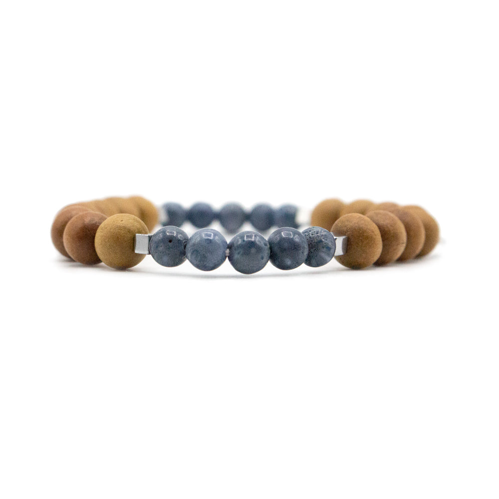 Blue Hour Mala Bracelet - Mala Beads Meditation Accessories and Yoga Jewelry by Tiny Devotions