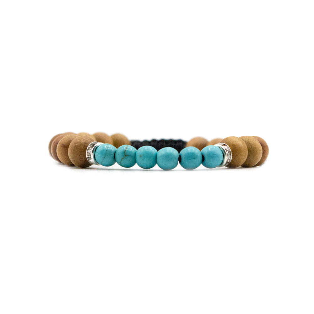 Turquoise Mala Bracelet - Tiny Devotions Gemstone 108 Mala Beads Intentional Jewelry