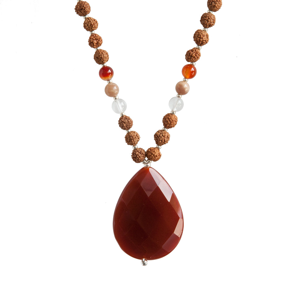 Carnelian Mala by Tiny Devotions