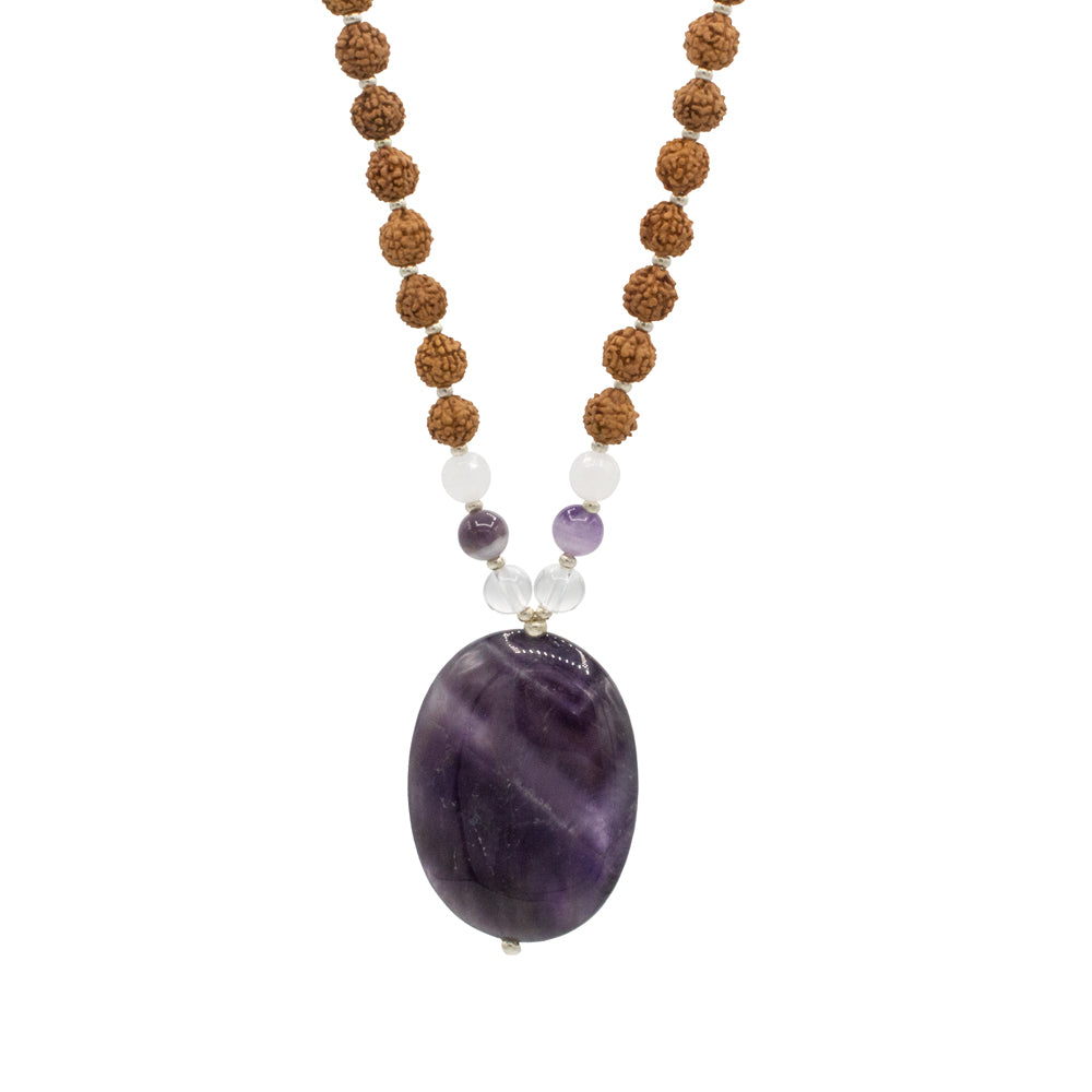 Amethyst Creativity Mala - Tiny Devotions Gemstone 108 Mala Beads Intentional Jewelry