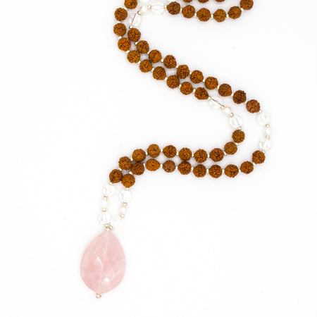 Eternal Love Mama Mala - Tiny Devotions Gemstone 108 Mala Beads Intentional Jewelry