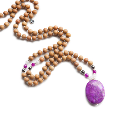 Inner Glow Mala - Tiny Devotions Gemstone 108 Mala Beads Intentional Jewelry
