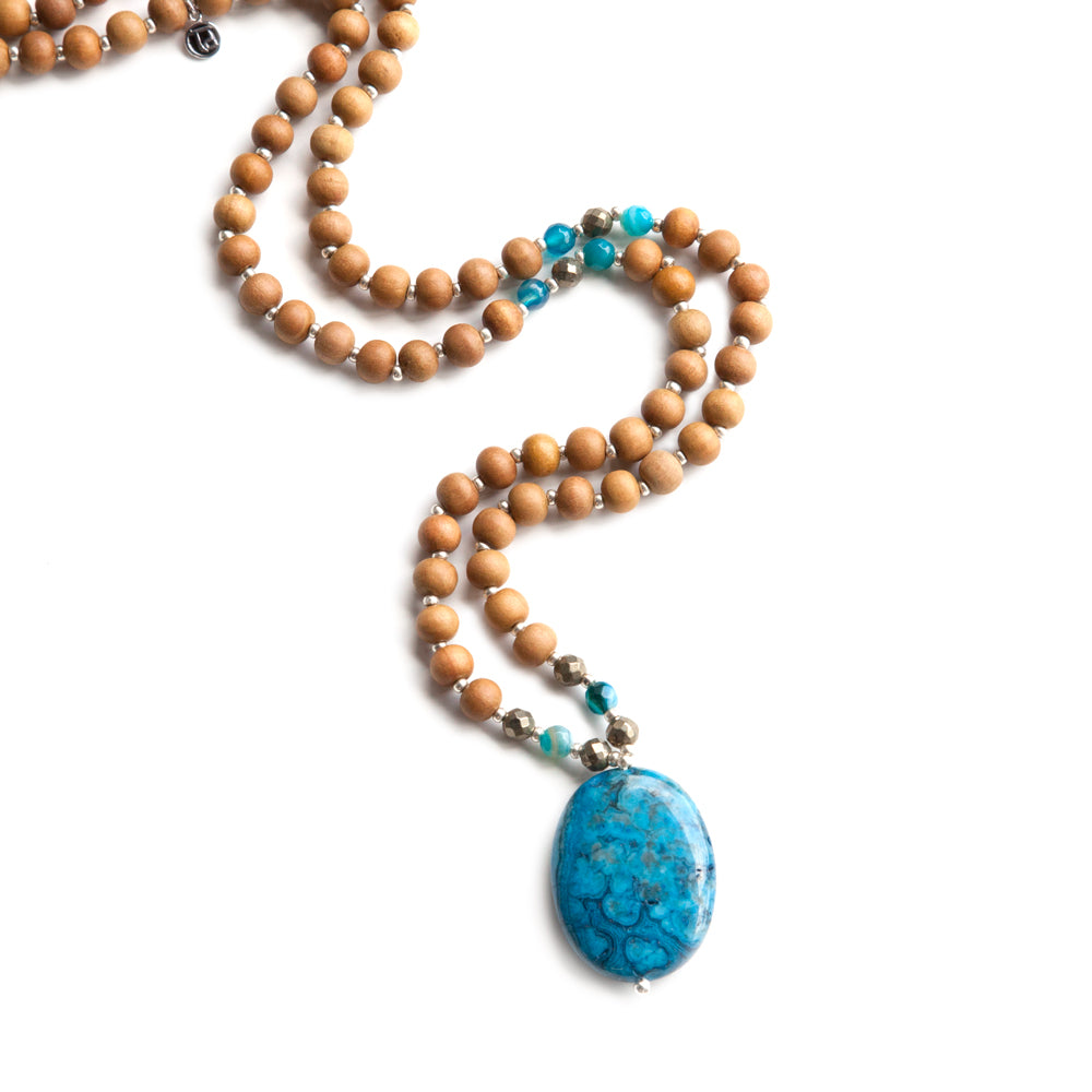 Reflection Mala - Tiny Devotions Gemstone 108 Mala Beads Intentional Jewelry