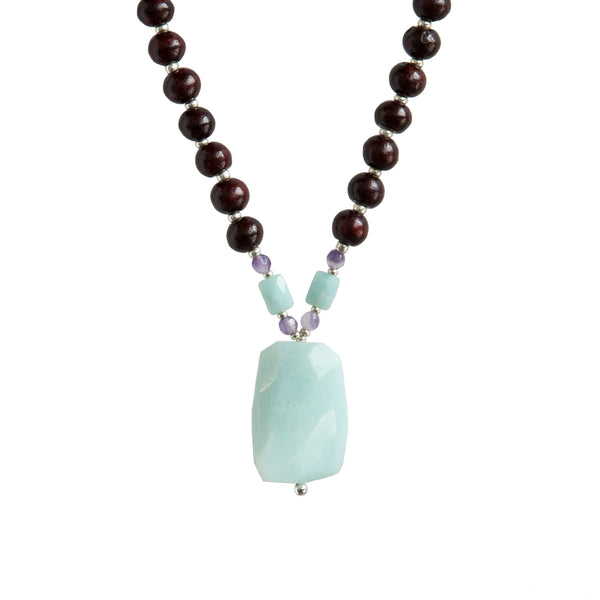Relax Mala - Tiny Devotions Gemstone 108 Mala Beads Intentional Jewelry