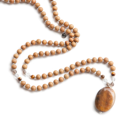 Tiger's Eye Mala - Tiny Devotions Gemstone 108 Mala Beads Intentional Jewelry