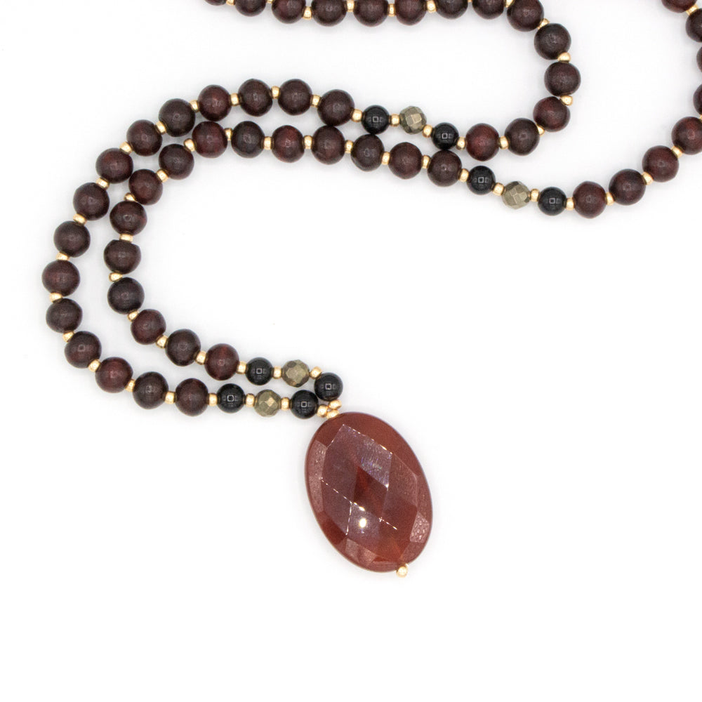 Wild Abandon Mala - Tiny Devotions Gemstone 108 Mala Beads Intentional Jewelry