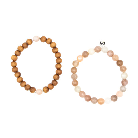 Be Free Stack - Mala Beads Meditation Accessories and Yoga Jewelryby Tiny Devotions