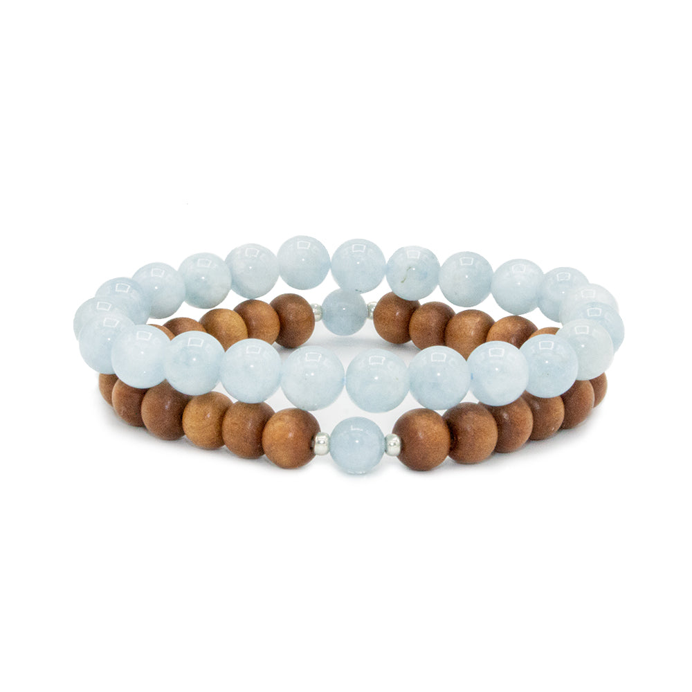 Be Present Stack - Mala Beads Meditation Accessories and Yoga Jewelry by Tiny Devotions