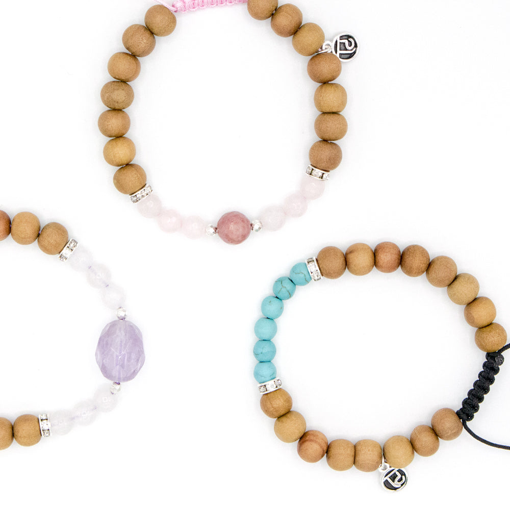 Eternal Love Mala Bracelet - Tiny Devotions Gemstone 108 Mala Beads Intentional Jewelry