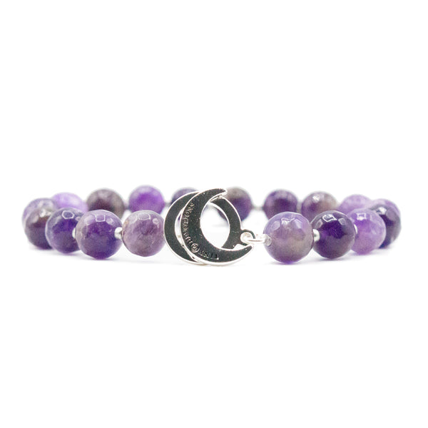 Amethyst Limitless Bracelet - Mala Beads Meditation Accessories and Yoga Jewelryby Tiny Devotions