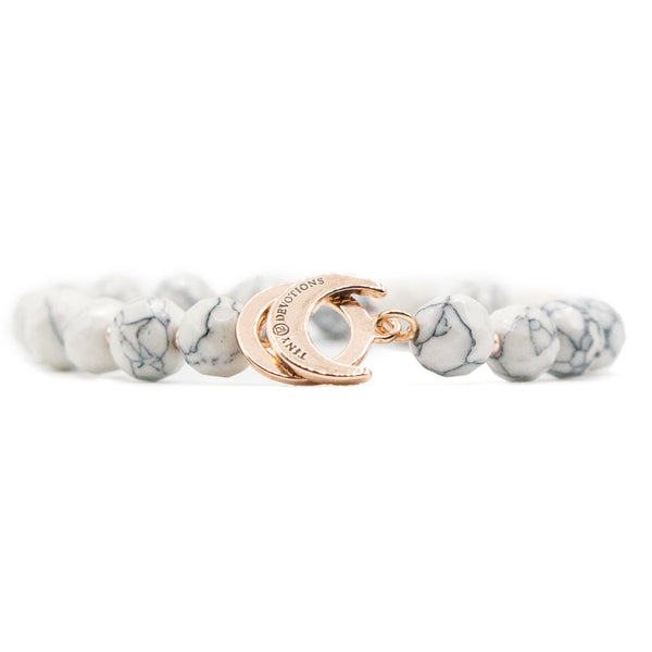 Howlite Limitless Bracelet - Rose Gold by Tiny Devotions