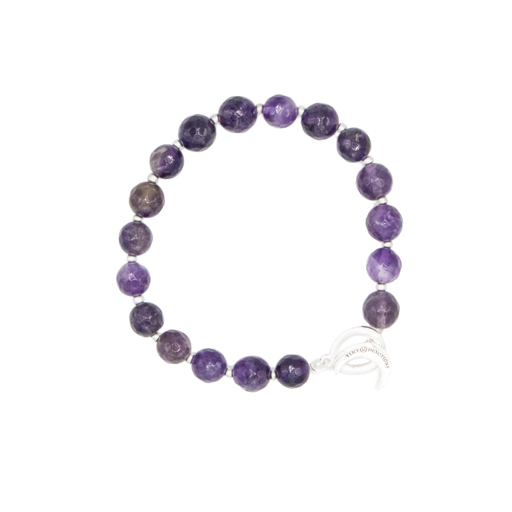 Amethyst Limitless Bracelet - Mala Beads Meditation Accessories and Yoga Jewelry by Tiny Devotions