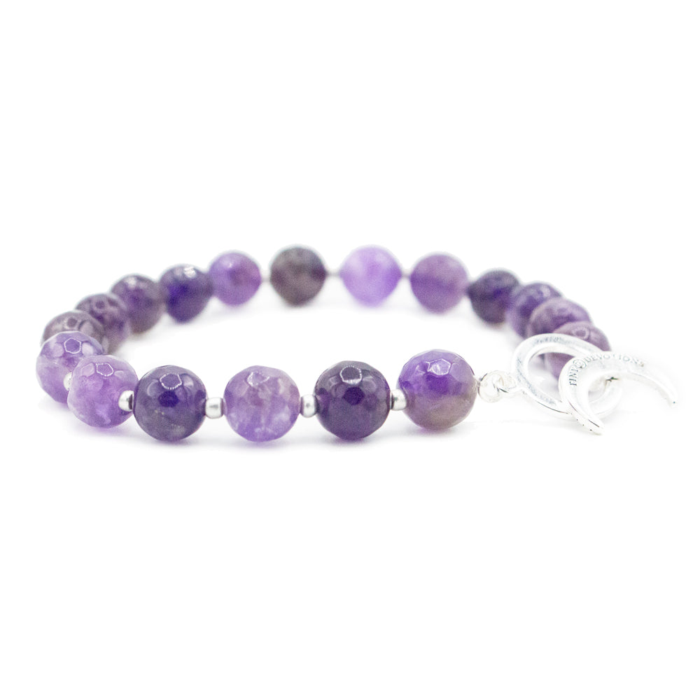 Amethyst Limitless Bracelet - Tiny Devotions Gemstone 108 Mala Beads Intentional Jewelry