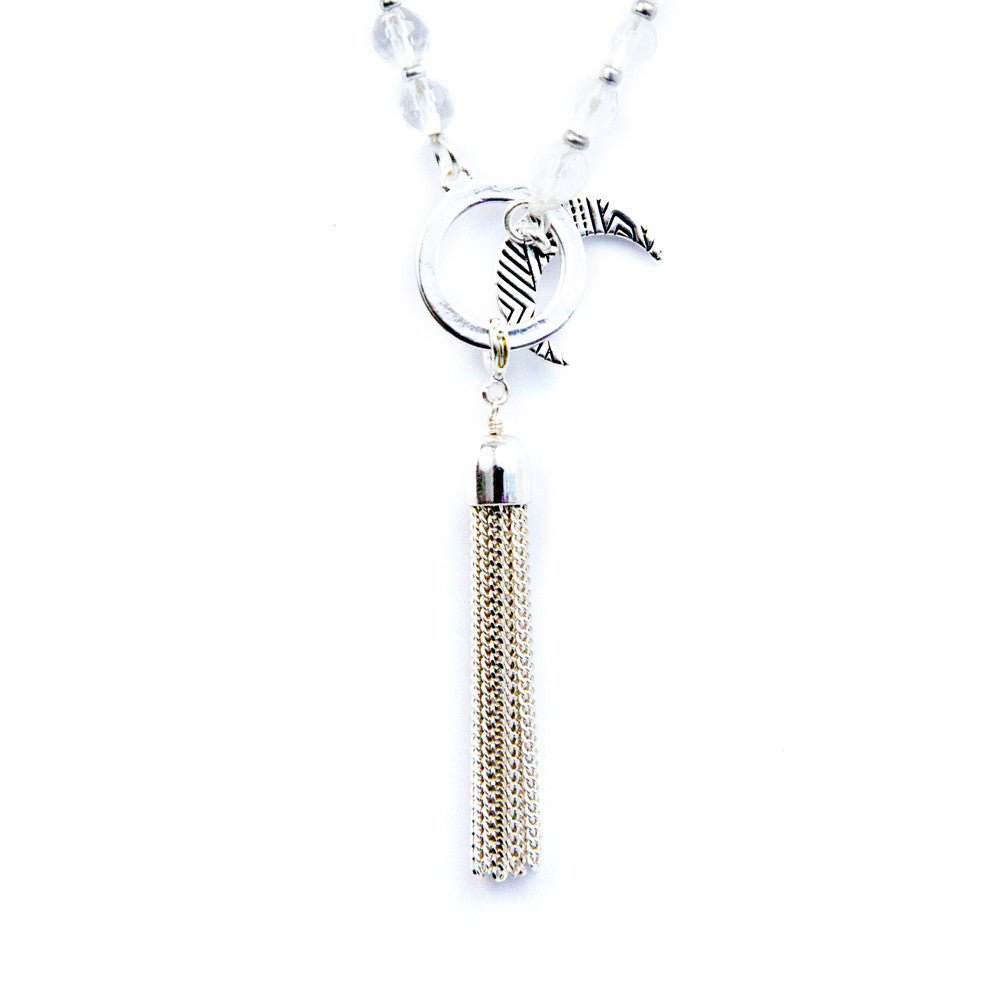 Nirvana Silver Tassel by Tiny Devotions