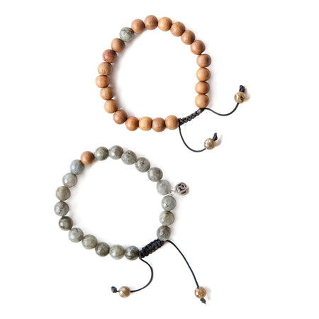 Guided Mindset Stack - Mala Beads Meditation Accessories and Yoga Jewelryby Tiny Devotions