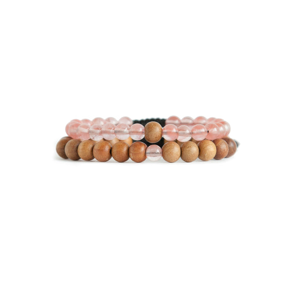 Power Mindset Stack - Mala Beads Meditation Accessories and Yoga Jewelryby Tiny Devotions