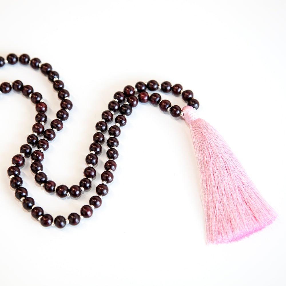 Harmony Rosewood Mala - Tiny Devotions Gemstone 108 Mala Beads Intentional Jewelry