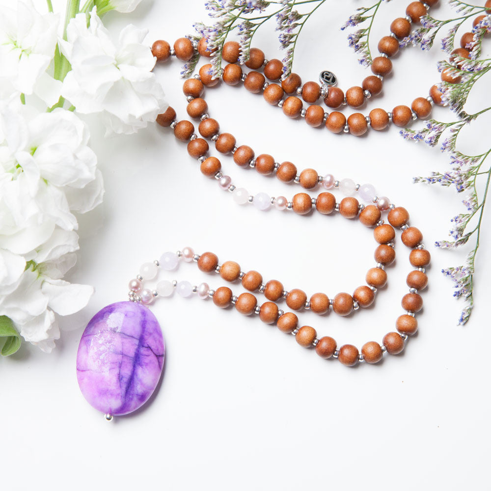 Cherished + Adored Mala - Mala Beads Meditation Accessories and Yoga Jewelry by Tiny Devotions