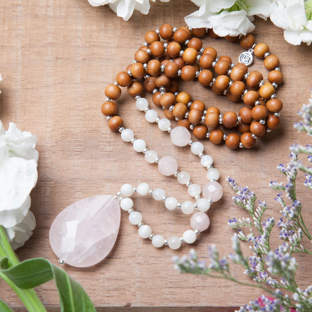 Dream of Love Mala - Tiny Devotions Gemstone 108 Mala Beads Intentional Jewelry