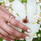 Clear Quartz Meditation Ring - Mala Beads Meditation Accessories and Yoga Jewelryby Tiny Devotions