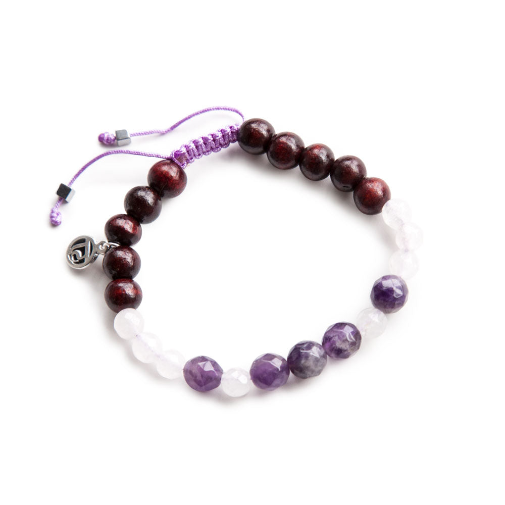 Live Spiritually Mala Bracelet - Tiny Devotions Gemstone 108 Mala Beads Intentional Jewelry