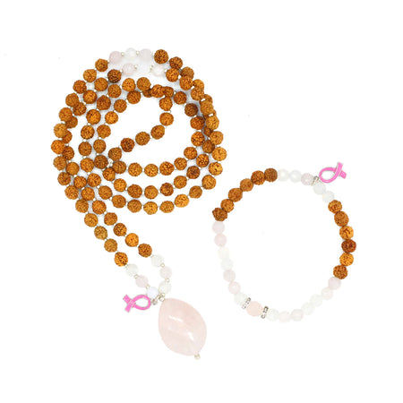 Her Spirit Mala - Tiny Devotions Gemstone 108 Mala Beads Intentional Jewelry