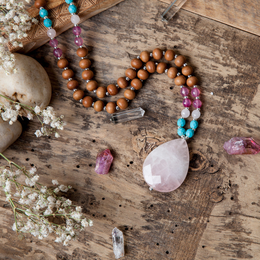 Heart Chakra Mala - Mala Beads Meditation Accessories and Yoga Jewelry by Tiny Devotions