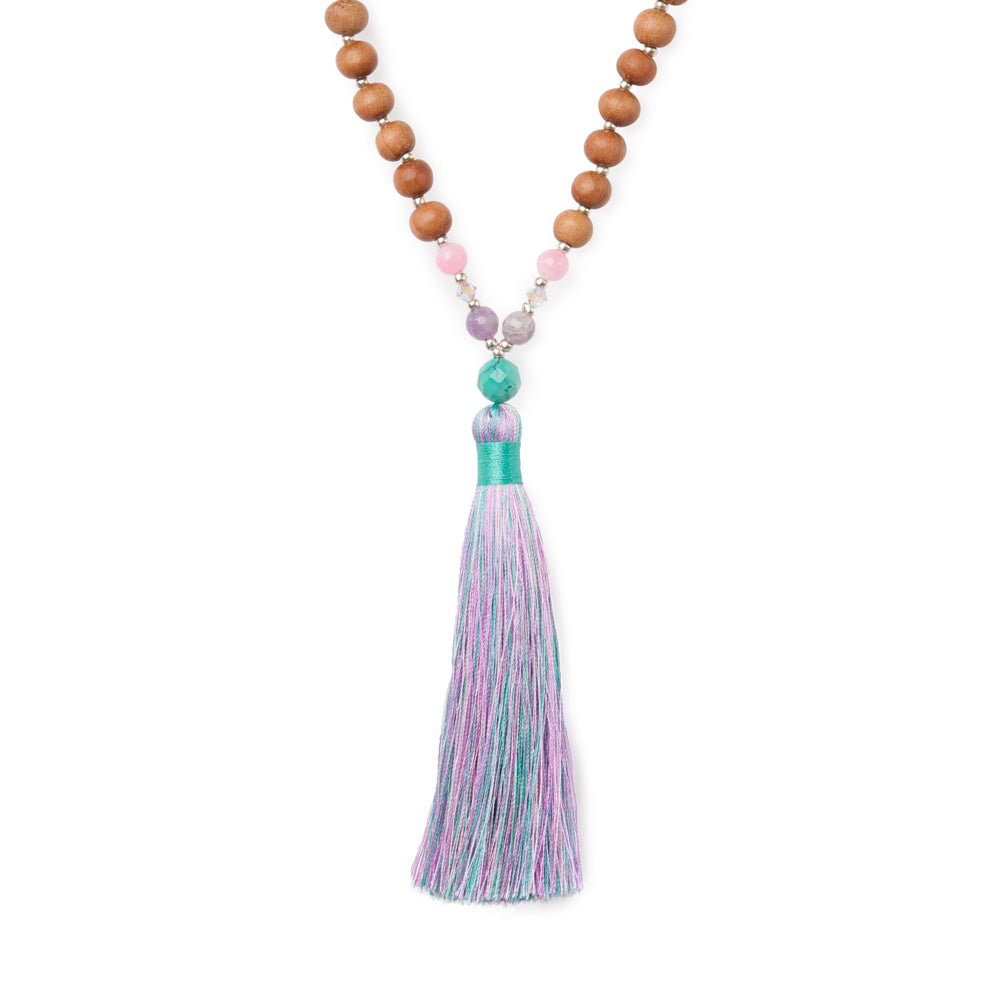 Rainbow Aura Unicorn Mala - Mala Beads Meditation Accessories and Yoga Jewelry by Tiny Devotions