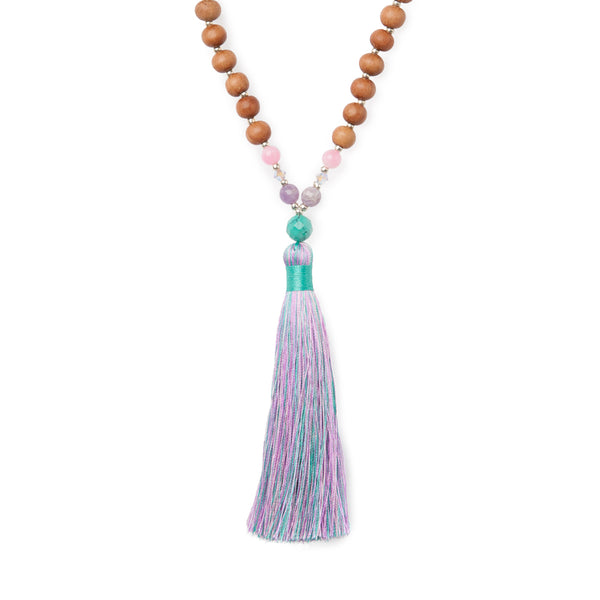 Rainbow Aura Unicorn Mala by Tiny Devotions
