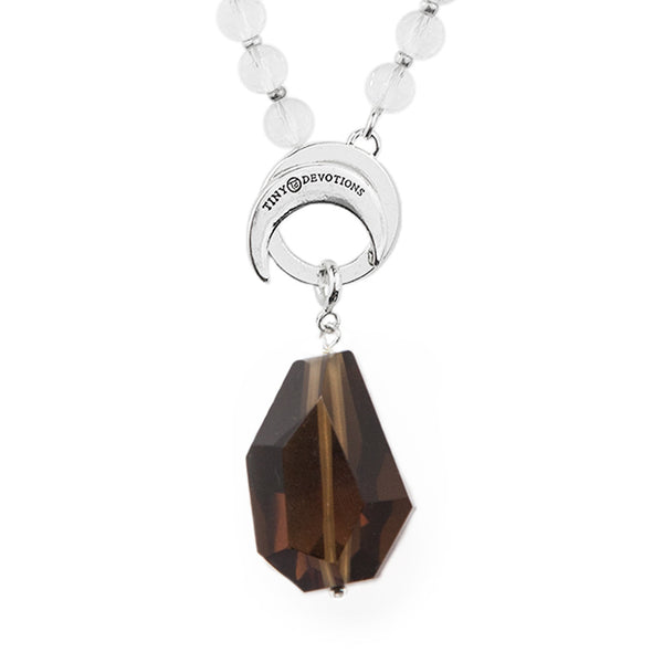 Smokey Quartz Protection Amplifier - Silver by Tiny Devotions
